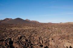 Вулканический ландшафт в Лансароте Стоковые Изображения RF