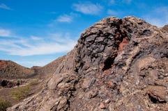 Вулканический ландшафт в Лансароте Стоковая Фотография