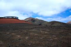 Вулканический ландшафт, Лансароте, Испания Стоковые Фотографии RF