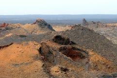 Вулканический ландшафт - Лансароте, канарские острова Стоковые Изображения RF