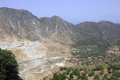 Вулканический ландшафт на острове Nisyros, Греции стоковая фотография rf