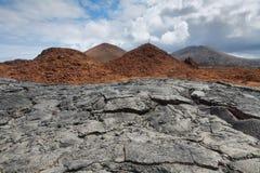 Вулканический ландшафт острова Сантьяго Стоковые Фотографии RF