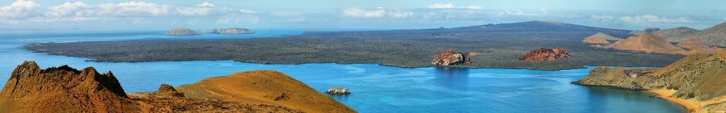 Вулканический ландшафт острова Сантьяго Стоковые Изображения RF