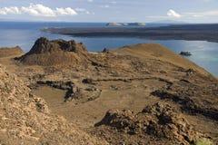Вулканический ландшафт - острова Bartolome - Галапагос Стоковое Изображение RF