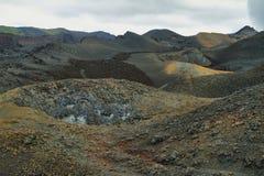 Вулканический ландшафт, Сьерра Negra, Галапагос Стоковое Фото
