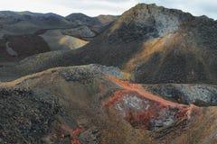 Вулканический ландшафт, Сьерра Negra, Галапагос Стоковые Изображения RF