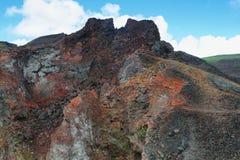 Вулканический ландшафт, Сьерра Negra, Галапагос Стоковое Изображение RF