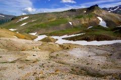 Вулканический ландшафт с старым конусом Стоковое Изображение RF
