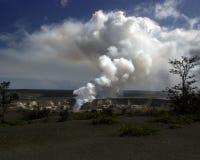 Вулканический дым от lauea KÄ « Стоковые Фото