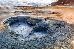 Вулканическое llandscape Namafjal, Исландия Стоковые Изображения