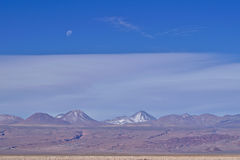 Вулканы и луна Стоковое фото RF