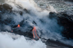 вулкан лавы kilauea Гавайских островов подачи Стоковые Изображения