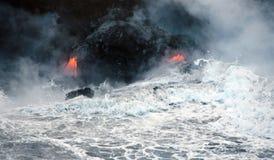 вулкан лавы kilauea Гавайских островов подачи Стоковое Изображение RF