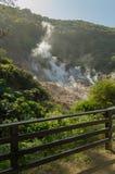 Вулкан в реальном маштабе времени куря на Soufriere, Сент-Люсия Стоковая Фотография