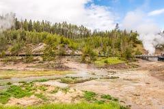 Вулкан грязи в национальном парке Йеллоустона Стоковая Фотография RF