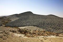 Вулкан грязи в Lokbatan около Баку пустословия Стоковая Фотография