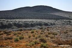 Вулкан грязи в Lokbatan около Баку пустословия стоковые изображения
