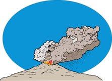 вулкан извержение Стоковое Фото