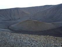 вулкан Исландии hverfjall кратера Стоковое Изображение RF