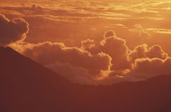 Вулкан на восходе солнца, Мауи Haleakala держателя, Гаваи Стоковое Фото