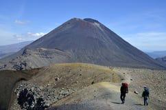 Вулкан, Новая Зеландия Ngauruhoe Стоковое Изображение RF