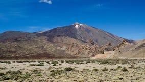 вулкан долины tenerife teide Испании las canadas канерейки del острова Тенерифе, Испания Стоковое Фото