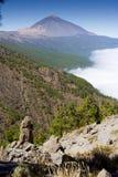 вулкан долины tenerife teide Испании las canadas канерейки del острова Стоковое Изображение RF