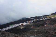 Вулкан Сицилия Этна Стоковое фото RF