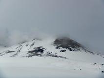 Вулкан Этна снега стоковые фотографии rf