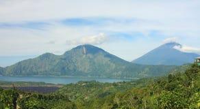 Вулкан Batur держателя & озеро Бали 03 Стоковое Изображение RF