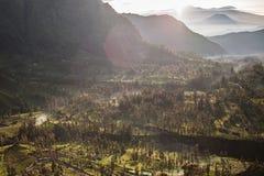 Вулкан Bromo держателя, Индонезия стоковые фотографии rf