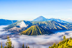 Вулкан Bromo, East Java, Индонезия Стоковое Изображение RF