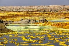 Вулкан Dallol, Эфиопия Стоковая Фотография