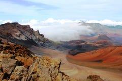 Вулкан Haleakala на Мауи Стоковое фото RF
