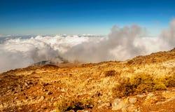 Вулкан Haleakala на острове Мауи в Гаваи Стоковое фото RF