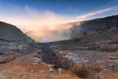 Вулкан Kawah Ijen East Java, Индонезии Стоковая Фотография RF