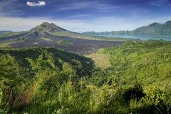 Вулкан Kintamani Бали, Индонезии Стоковое Изображение