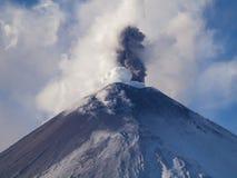 Вулкан Klyuchevskoi Стоковое Изображение