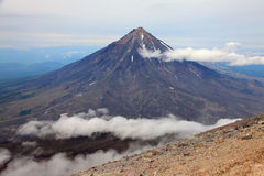 Вулкан Koriaksky Стоковая Фотография RF
