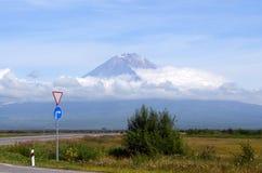 Вулкан Koryak. Камчатка Стоковая Фотография