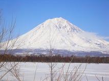 Вулкан Koryak стоковое изображение