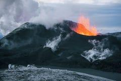 вулкан krakatau Индонесии извержения anak Стоковое Изображение RF