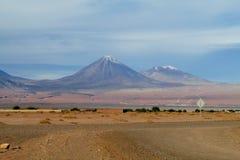 Вулкан Licancabur в San Pedro de Atacama, Чили Стоковое Фото