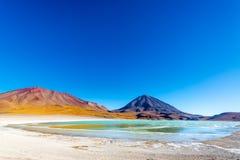 Вулкан Licancabur широкоформатный Стоковые Изображения RF