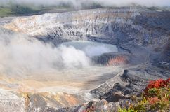 Вулкан Poas стоковое изображение rf
