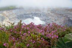 Вулкан Poas стоковые фотографии rf