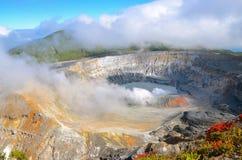 Вулкан Poas стоковое фото