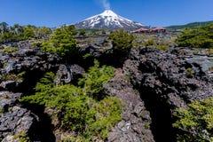 вулкан villarrica Чили стоковая фотография
