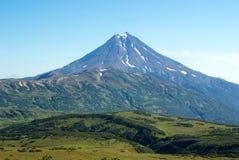 Вулкан Viluchinsky в Камчатском полуострове Стоковые Изображения RF