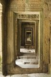 входы angkor отступая Стоковые Фотографии RF